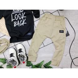 Spodnie  baggy piaskowe